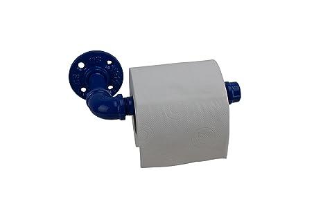 Irwost - lOriginal - Portarrollos, dispensador de papel higiénico color azul de estilo