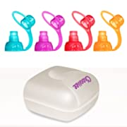 ChooMee SoftSip Food Pouch Tops | 4 colors + White case | Prevent Spills and Protect Childs Mouth