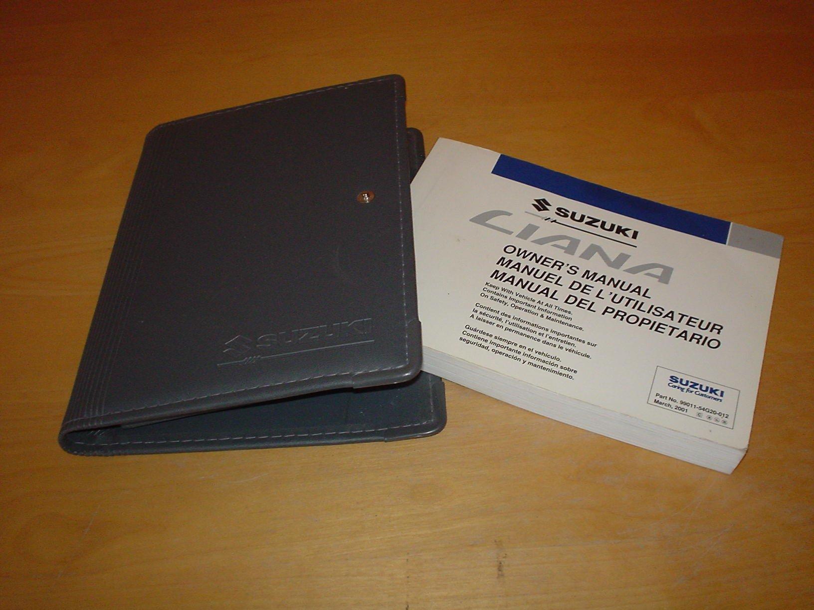 suzuki liana owners manual handbook 2001 2007 1 3 1 6 litre rh amazon co uk repair manual suzuki liana 2009 Suzuki Liana