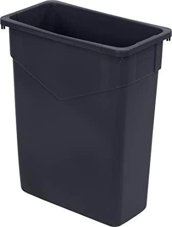 carlisle 34201523 trimline rectangle waste container trash can only 15 gallon gray - Industrial Trash Cans