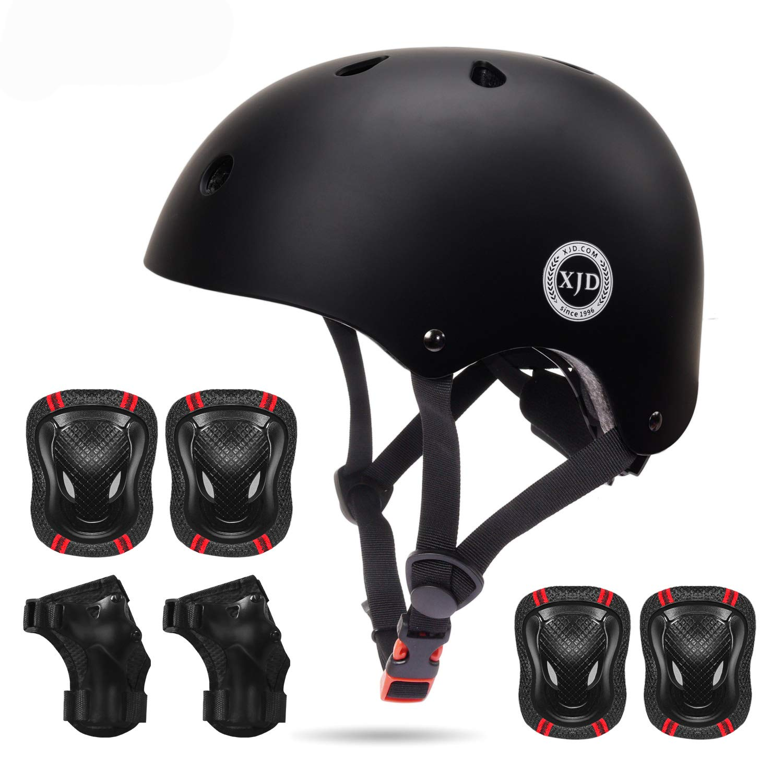 Kids Bike Skateboard Helmet Youth Cycling Scooter Rollerblading Protective Gear Adjustable Helmets for Kids Kids Helmet Knee Pads for Kids 3-8 Years Toddler Helmet