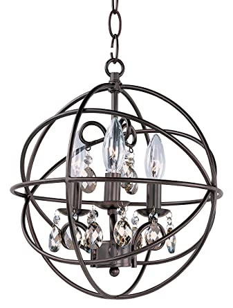 Chandeliers 3 Light Bulb Fixture With Oil Rubbed Bronze Finish Metal