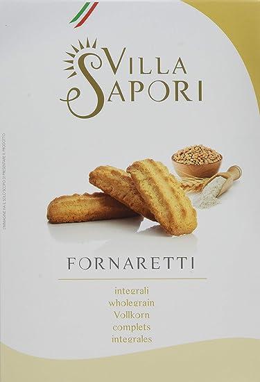 Villa Sapori Galletas Tradicionales Italianas con Harina Integral | Fornaretti Integrales, caja de 900 g (pack de 6 x 150 g)
