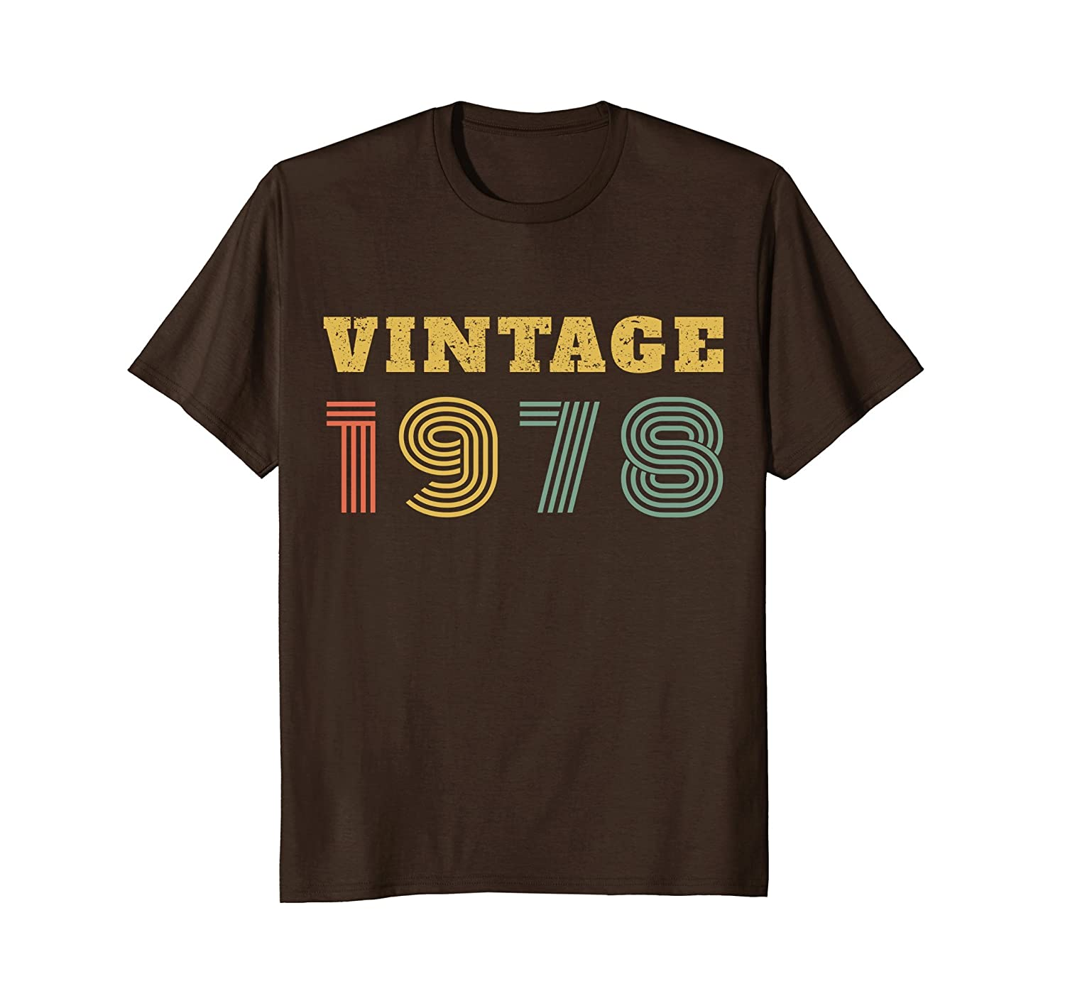 40th Birthday Gift Vintage 1978 Year T-Shirt-alottee gift