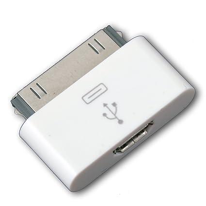 b82868de55f Blanco conector Dock de 30 pines a micro usb adaptador para iPod Touch iPhone  4 4S