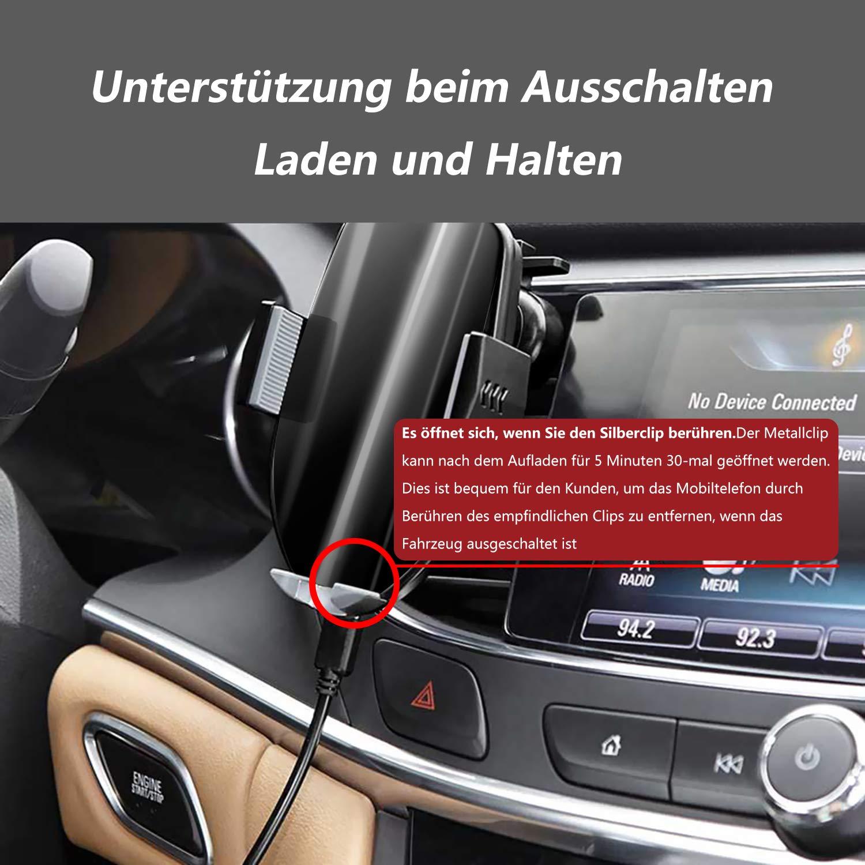 10W Automatisch Touch Kontrolle Wireless Charger Auto Handyhalterung mit Ladefunktion f/ür iPhone XS Max//XS//XR//X//8 Plus Samsung S9+//S8//S7//S6 Edge//Note 8//5-Schwarz Qianyou Autohalterung Charger