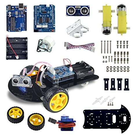 Amazon uctronics smart robot car kit for arduino automatic uctronics smart robot car kit for arduino automatic avoidance of obstacles with uno r3 2 malvernweather Images