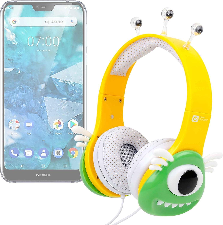 DURAGADGET Auriculares mágicos para niños para Smartphone/Nokia 7.1 Plus Colores Divertidos. Diseño Monstruo Verde.: Amazon.es: Electrónica