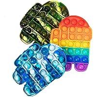 LANQKUISZ Pop Push its tie dye Bubble Sensory Fidget Toy Autism Special Needs Stress Reliever for Kids & Adults