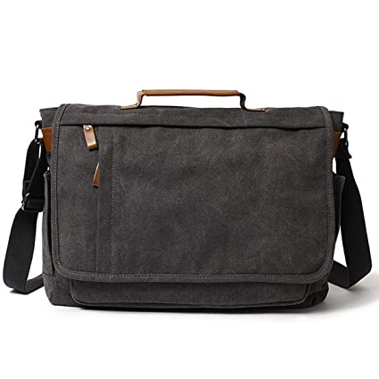 c545975b3c3c Amazon.com: HWX Messenger Bag for Men 17.3 inch Canvas Laptop Bag ...
