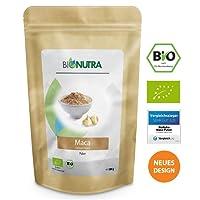 BioNutra Maca-Pulver Bio 500 g, Original aus Peru, fein gemahlenes Maca, Macapulver in kontrollierter Qualität aus biologischem Anbau, Vergleichssieger 2018