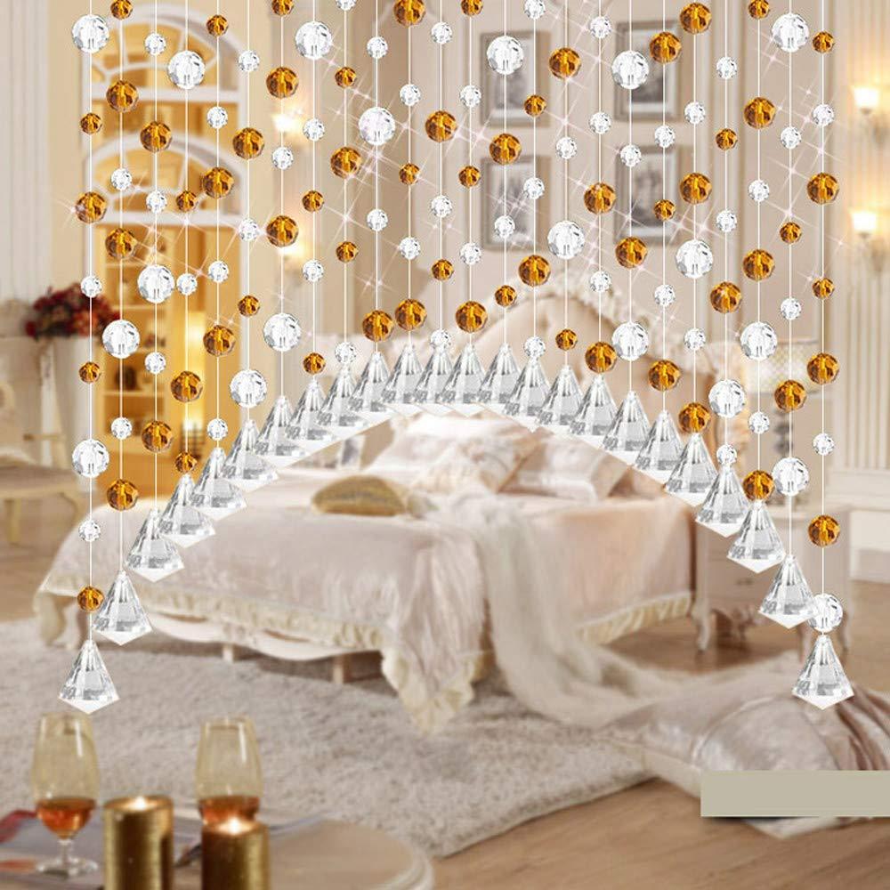 Etiqueta de la pared de wallpaper de BaZhaHei, Cortina de cristal de cuentas de vidrio de lujo dormitorio ventana de la puerta decoración de la boda ...