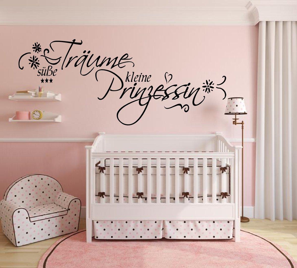 XL Wandtattoo Text ~ Süße Träume kleine Prinzessin ~ 72023-110x58 ...