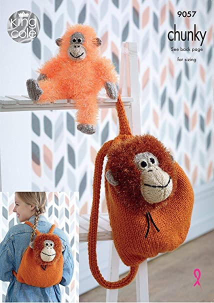 Amazon King Cole Tinsel Chunky Knitting Pattern Orangutan
