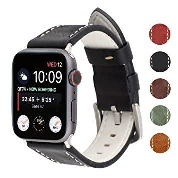 0c9b3bc2ee8d2 WONMILLE Compatible for Apple Watch Band 40mm 38mm,Cowhide Leather Band for  iWatch Band/Strap for Apple Watch Series 4 Series 3 Series 2 Series 1 42mm  ...
