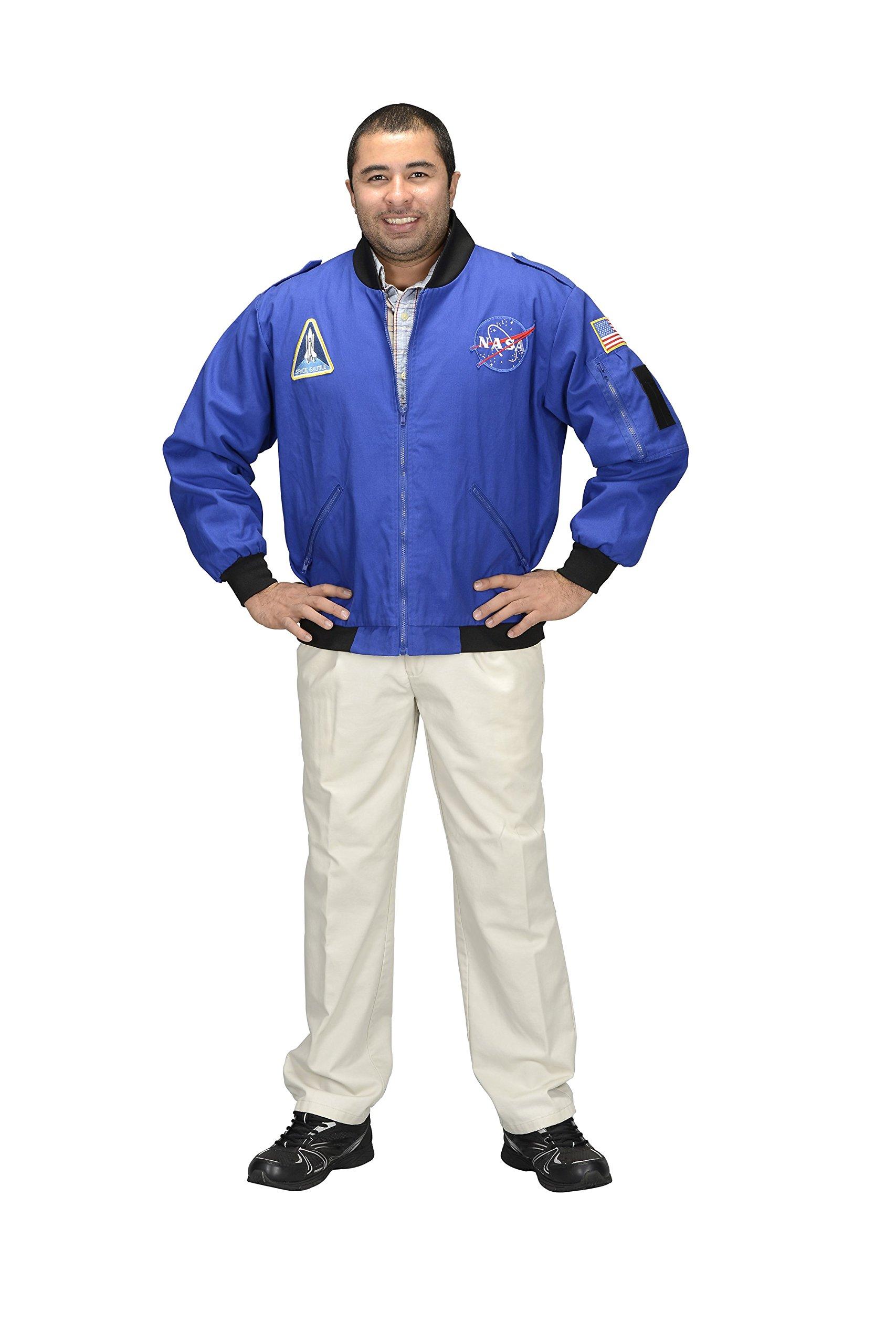 Aeromax Adult NASA Astronaut Flight Jacket, Medium, Blue