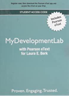 My development lab access code pearson etext for berk pearson new mydevelopmentlab with pearson etext valuepack access card for laura e fandeluxe Gallery