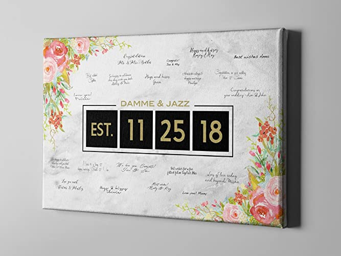dac0f128387 Image Unavailable. Image not available for. Color  SALE 50% Off Canvas Guest  Book