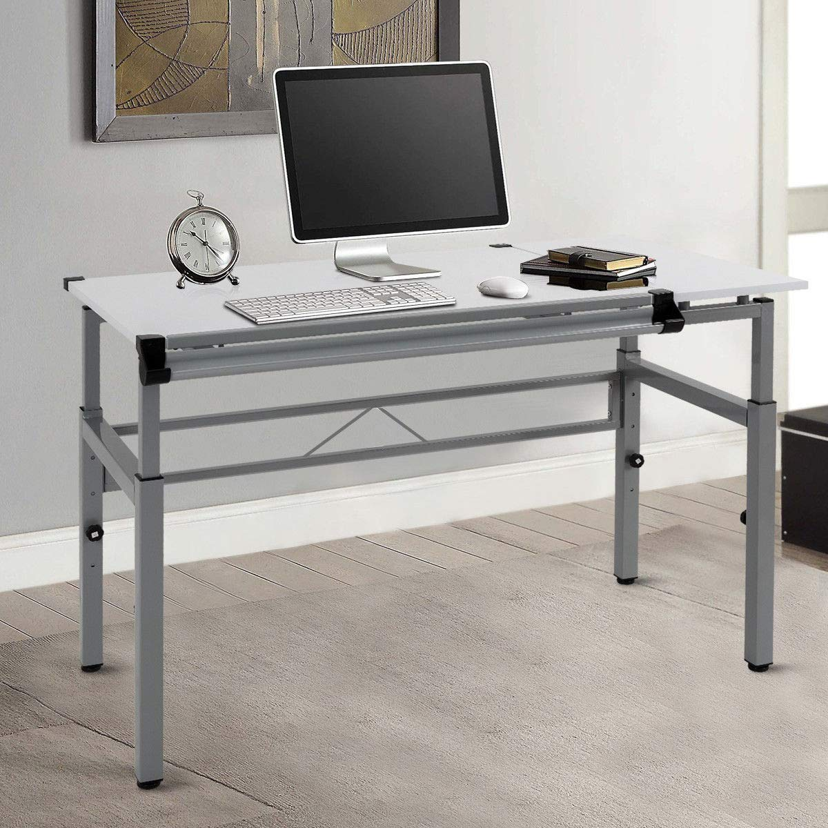 Seleq Adjustable Steel Frame Drawing Desk Drafting Table by Seleq (Image #8)