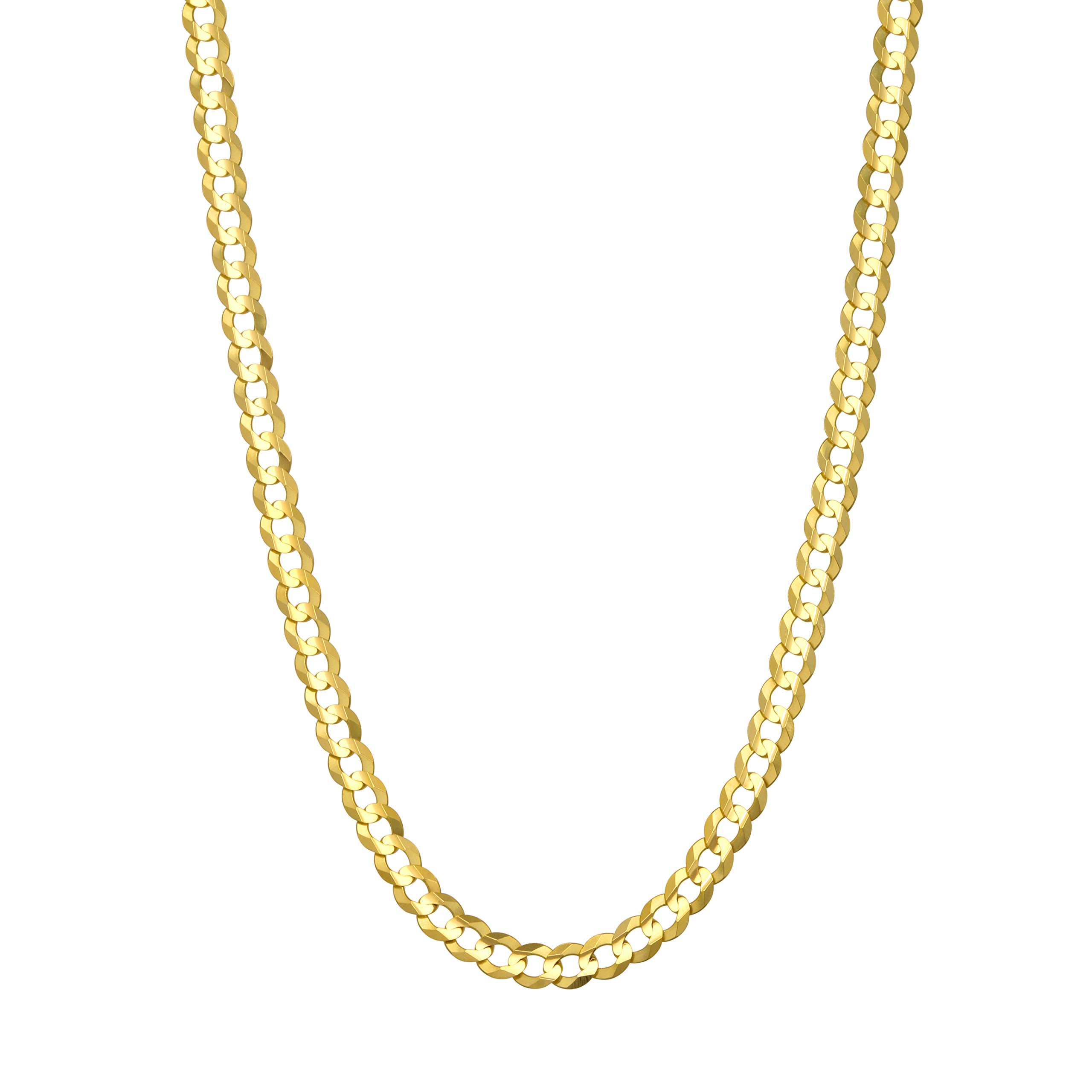 Pairfection 14K Yellow Solid Curb Gold with Lobster Clasp - 3.60 MM Wide 20 Inches Long Necklace