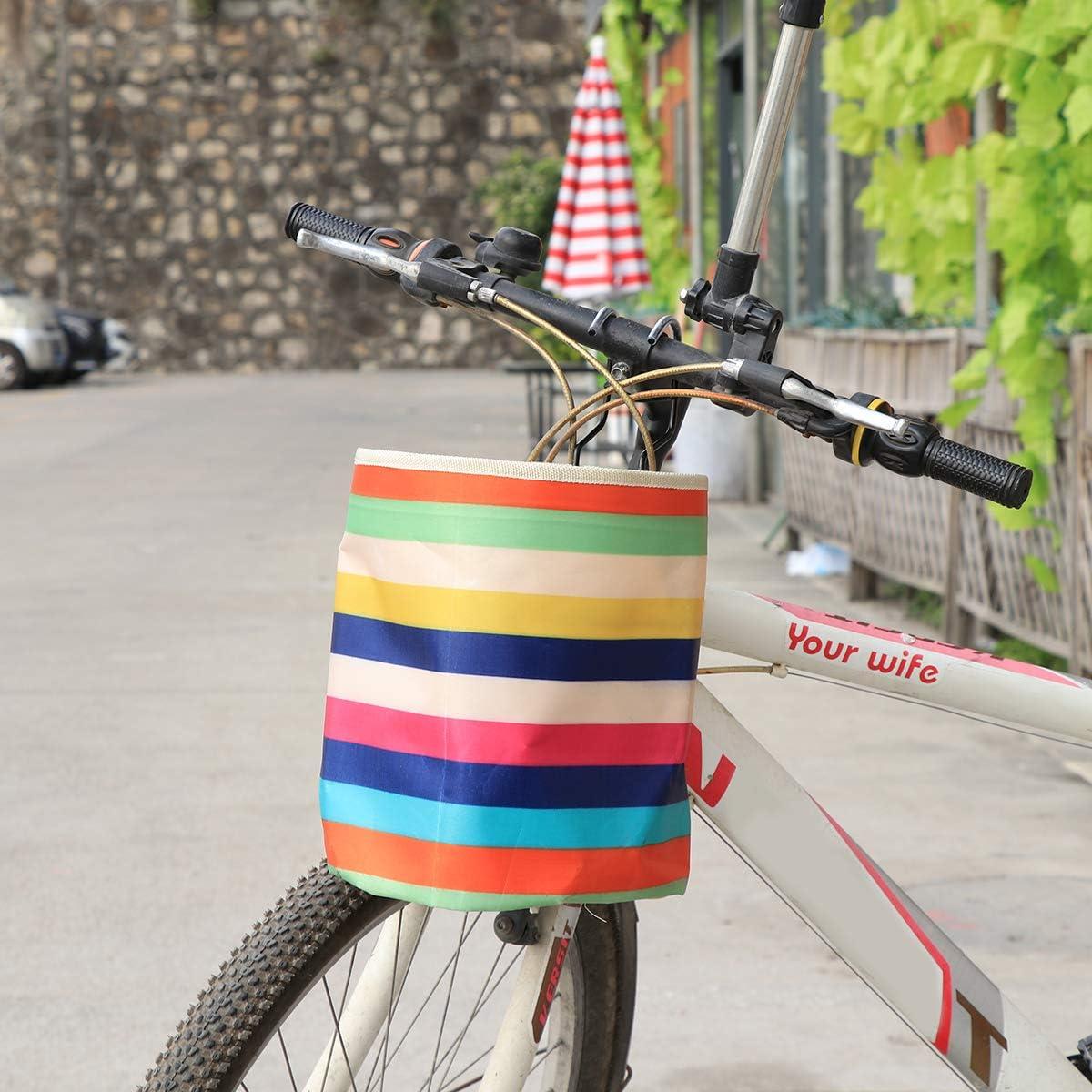 LIOOBO Cesto de Bicicleta Lona Impermeable Manillar Delantero ...