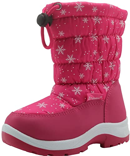 f5930ca1dff Apakowa Kid s Cold Weather Snow Boots (Toddler Little Kid) (Color   Peach