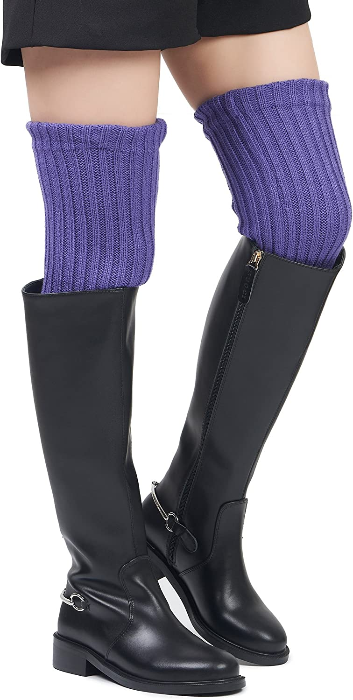 Leotruny Womens Winter Over Knee High Footless Socks Knit Leg Warmers