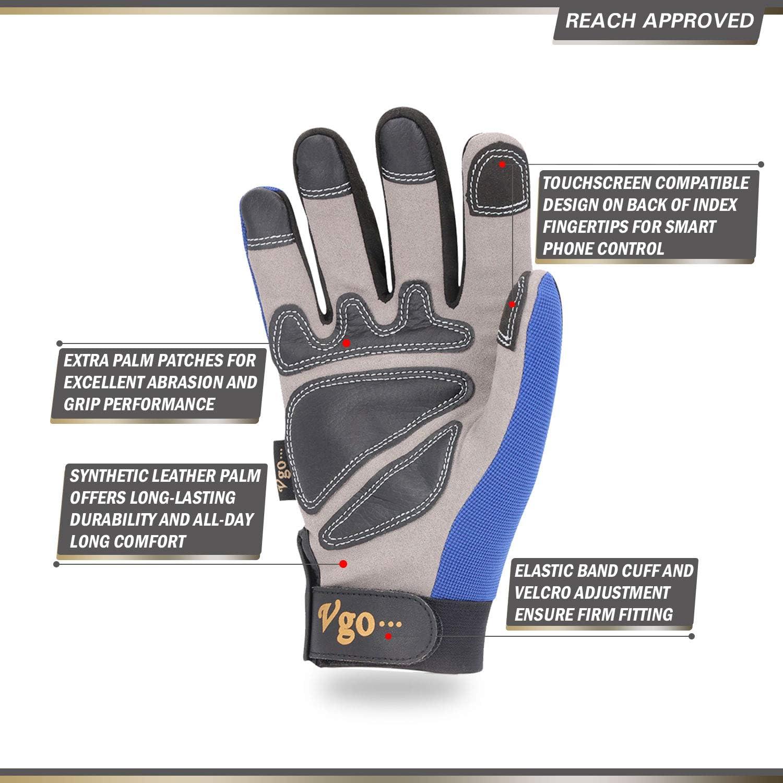 Men/'s Women/'s 2 Half Finger Gloves Carpenter Builder Farmer Garening Gloves UK