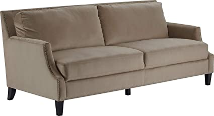 Amazon.com: Truly Home UPH10158B Parker Sofa Taupe: Kitchen ...