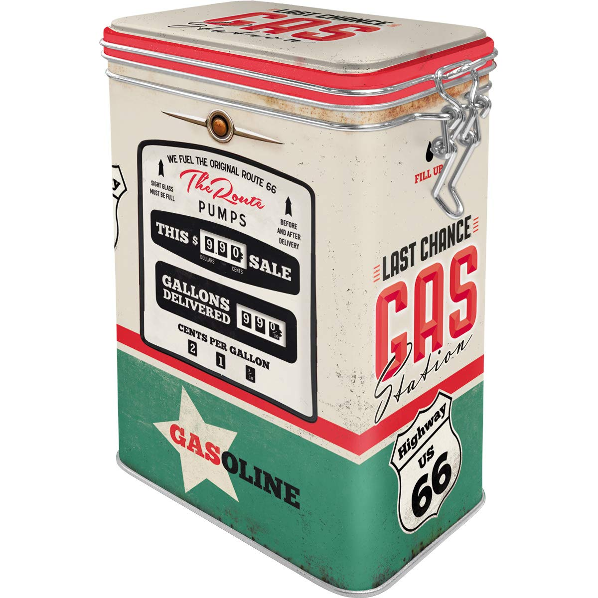 11/x 8/x 18/cm Aroma Tapa Retro Aroma dose| Chapa caf/é de Lata Metal Nostalgic-Art 31113/Route 66/Gas Station