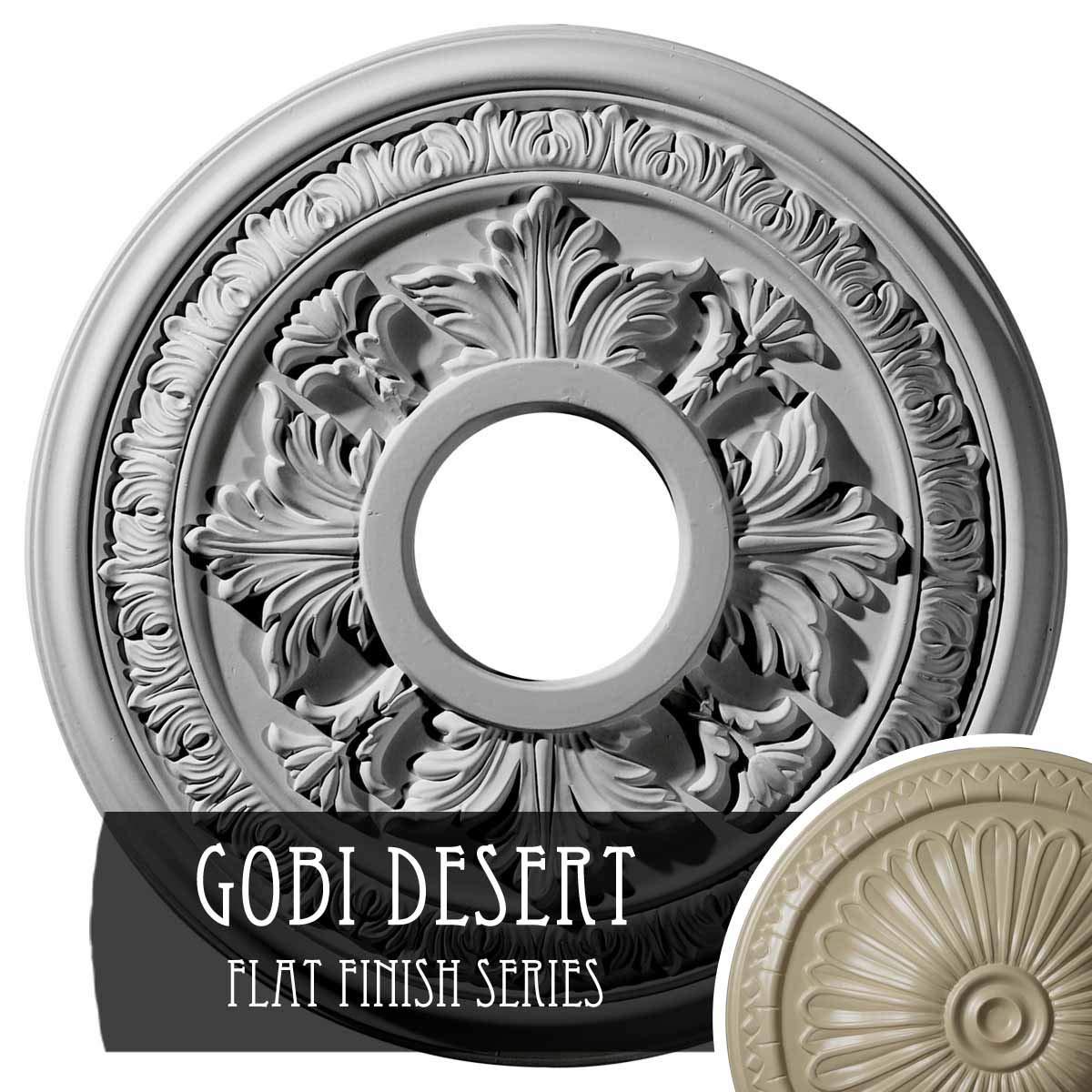 Ekena Millwork CM15BAGDF Baltimore Ceiling Medallion, Gobi Desert