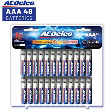 Acdelco Aaa Batteries Triple A Battery Super Alkaline High Performance 48 Count