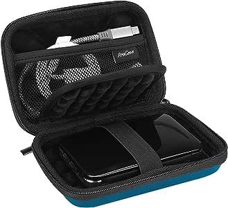 "ProCase Portable Hard Drive Case for Canvio Basics Western Digital WD Elements My Passport Seagate Portable Backup Plus Slim 1TB 2TB 3TB 4TB USB 3.0, 2.5"" Portable External Hard Drive Case -Navy"