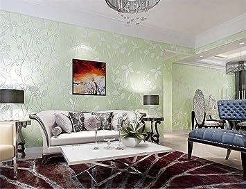 Hu0026M Tapete Vlies Modern Einfach Damaskus 3D Relief Wasserdicht Tapete  Dekoration Schlafzimmer TV Wand Wohnzimmer Tapete