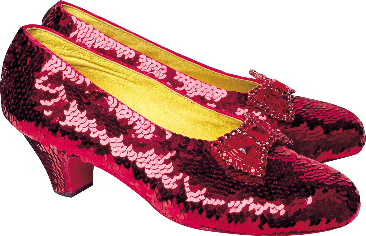 """Paper House Productions 3"""" x 2"""" Wizard of Oz Die-Cut Ruby Slippers Shaped Magnet for Refrigerators and Lockers"""