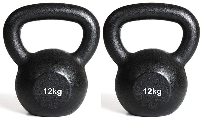 Kettlebell 12kg + 12kg Kugelhanteln Gusseisen Gewicht