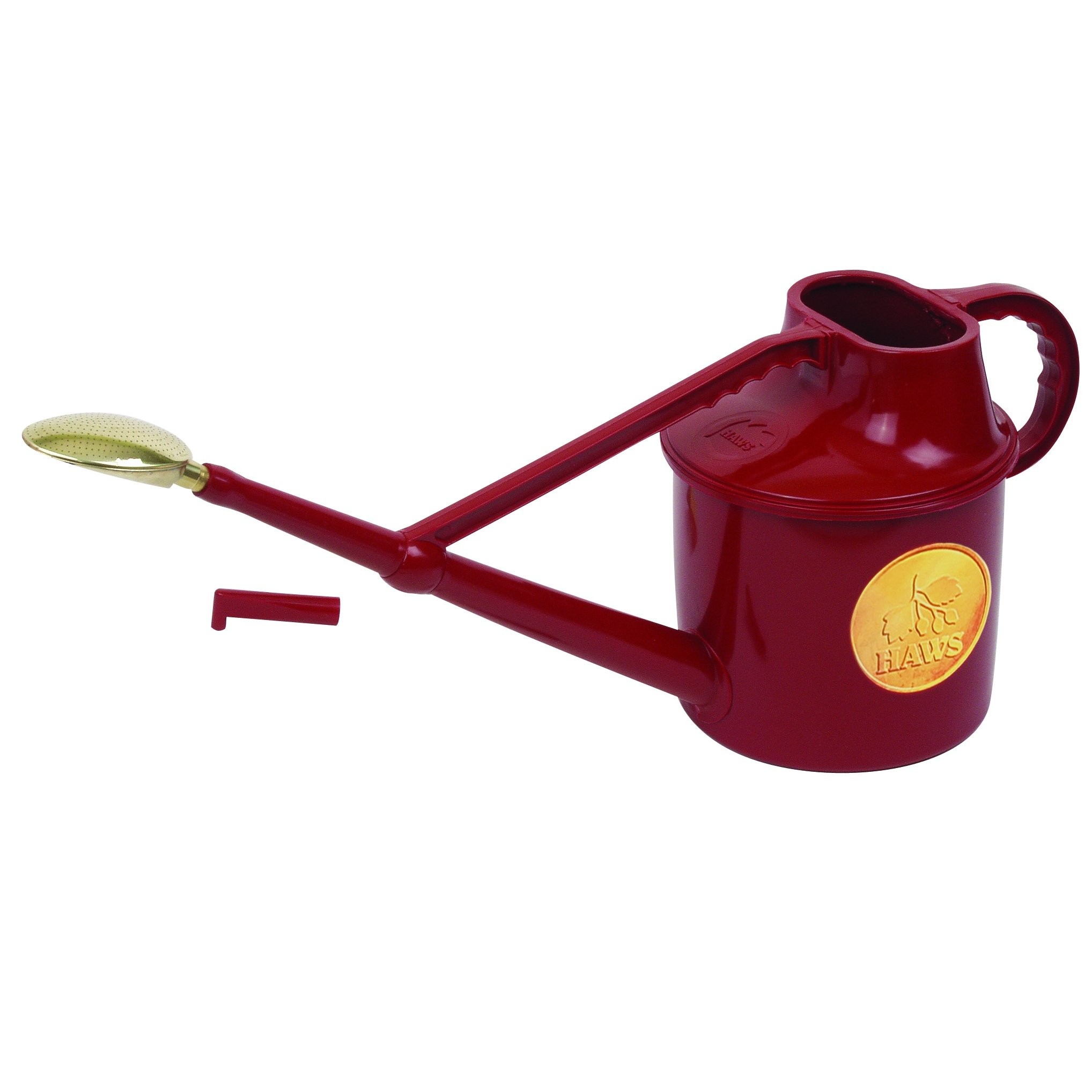 Haws English Garden Deluxe 1.8 Gallon Plastic Watering Can Red