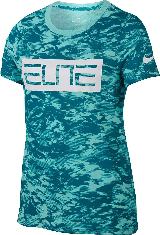 lumièreaqua bleustery S Nike Fille Dry Elite T-Shirt imprimé