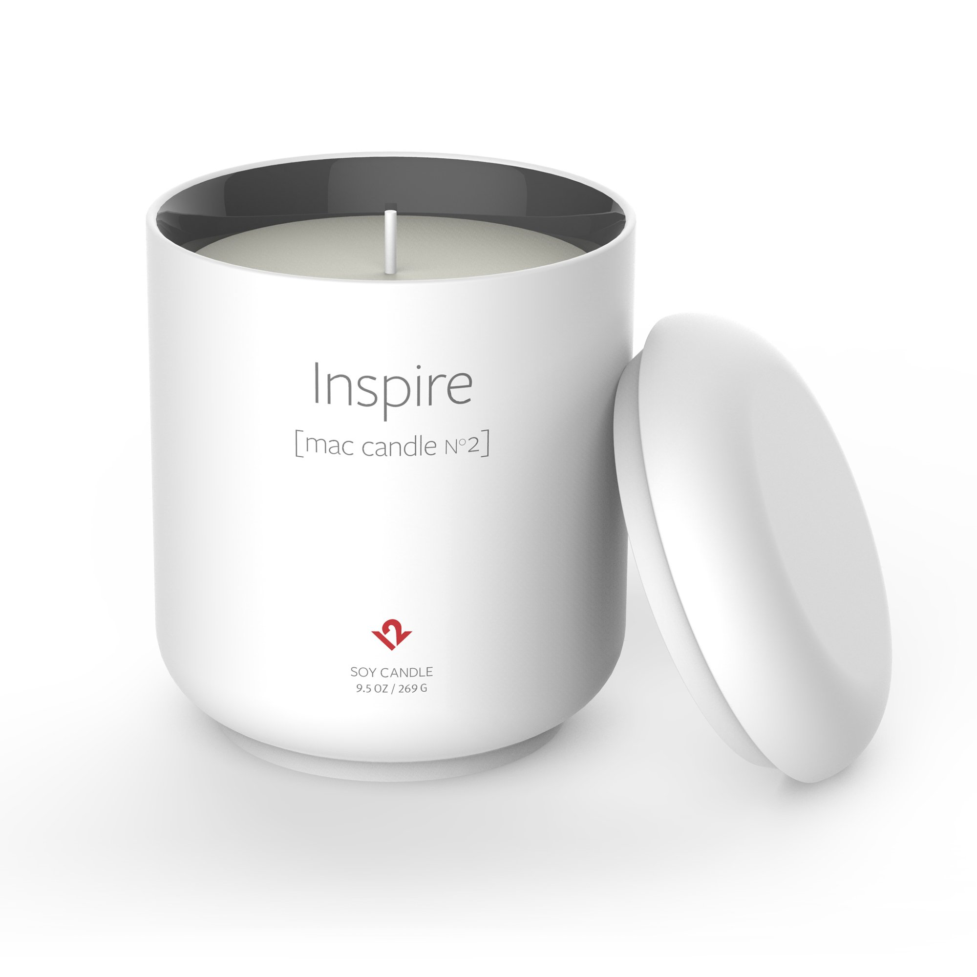 Twelve South Inspire: Mac Candle No. 2 | Limited edition candle in an Apple-inspired container