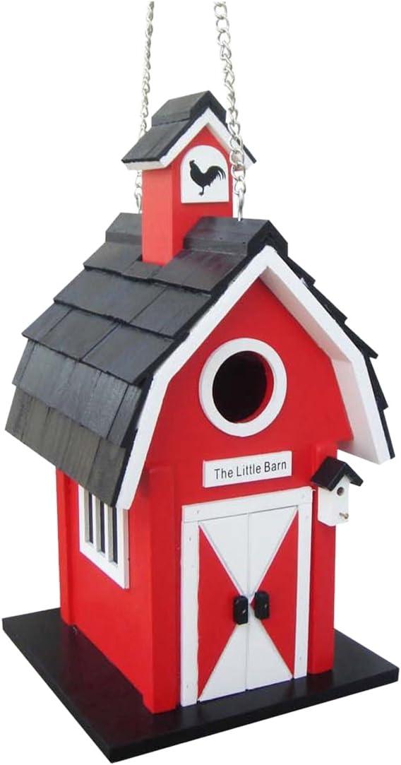 Home Bazaar Barn Birdhouse, Red