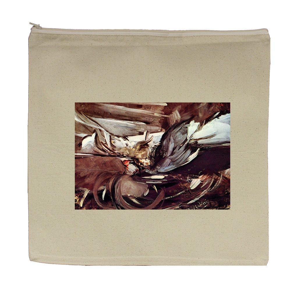 Grey Game (Boldini) Canvas Zipper Tote Bag Makeup Bag