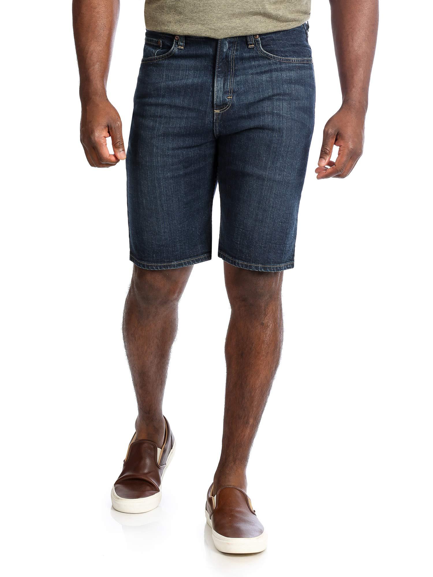 Wrangler Authentics Men's Big and Tall Big & Tall Comfort Flex Denim Short, Dark, 46