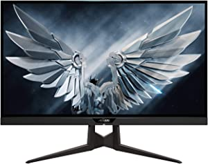 "Gigabyte FI27Q-P 27"" Frameless Gaming Monitor, QHD 1440p, 95% DCI-P3 Color Accurate IPS Panel, 1ms 165 Hz, HDR, G-SYNC Compatible and FreeSync Premium, Height/Tilt/Rotation Adjustable, VESA"