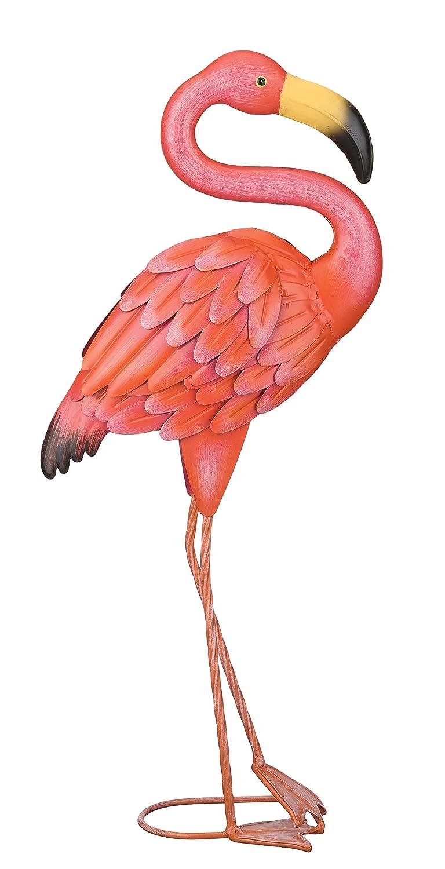 amazoncom regal art gift standing flamingo garden decor small collectible figurines garden outdoor - Orange Garden Decor