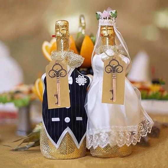 parfaits pour mariage et f/ête Rgalos et souvenirs porte-cl/és originaux style vintage Dightyoho Lot de 50 mini d/écapsuleurs pour bi/ère