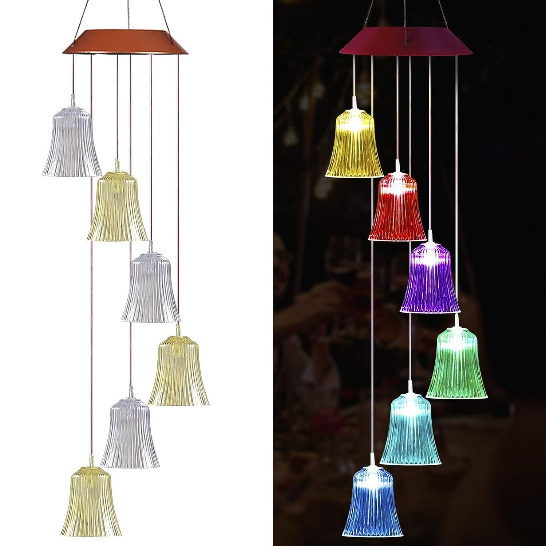 Solar Wind Bell LED light