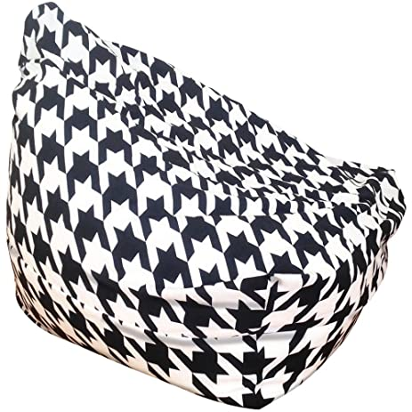 Choosy Bean Bag Chair Black Houndstooth Small