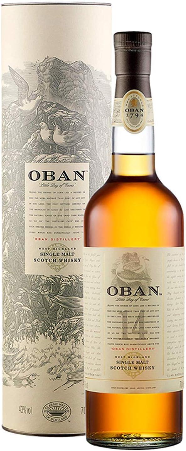 Oban Whisky Escocés - 700 ml: Amazon.es: Alimentación y bebidas