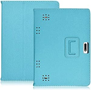 "YELLYOUTH 10.1 inch Tablet Case, DETUOSI-PU Leather Folio Android Cover fit for Yuntab 10.1 (K107/K17),KUBI 10.1,Winsing 10, LLLCCORP 10, Plum 10"" Phablet, Lectrus 10, Victbing 10,Hoozo 10,Wecool 10.1"