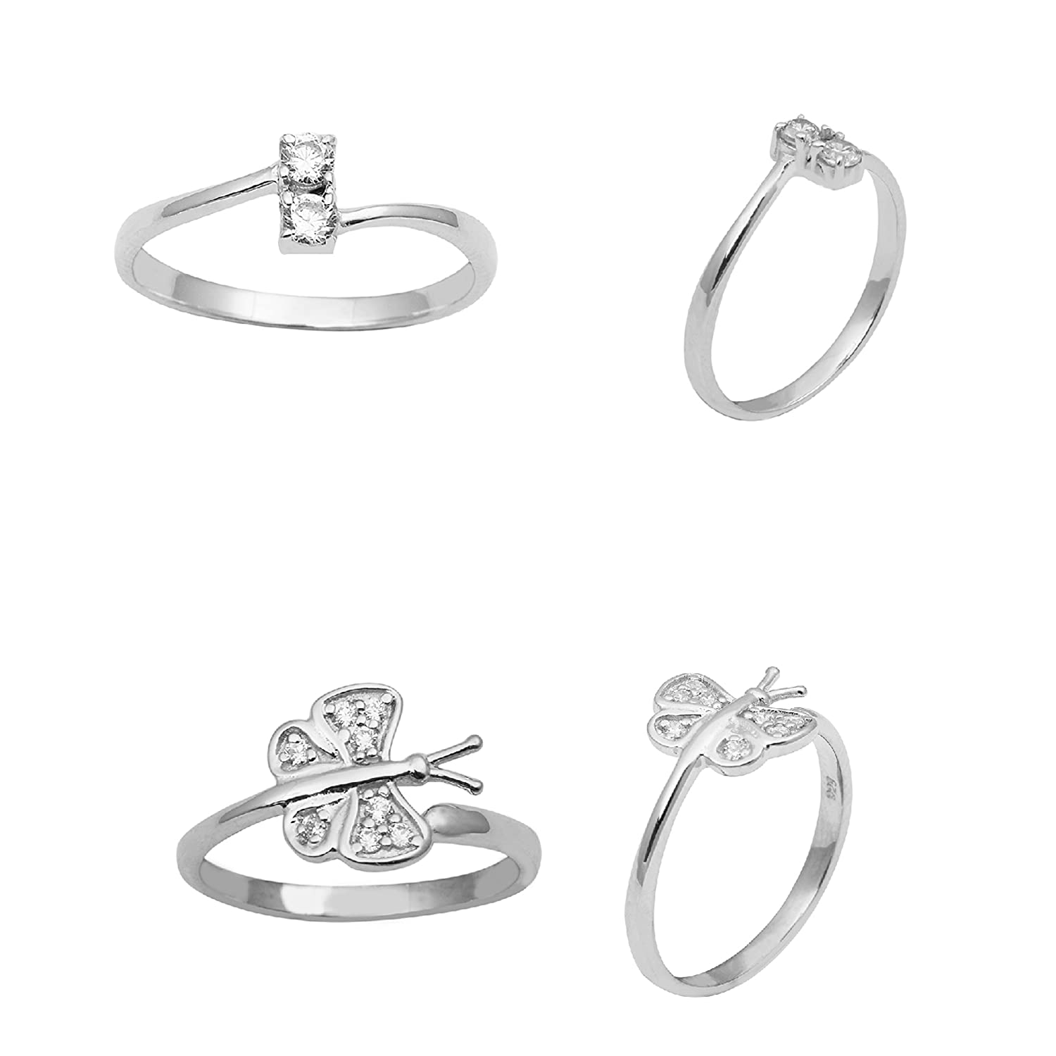 Butterfly design Adjustable Toe Ring Free Shipping in USA! Sterling Silver